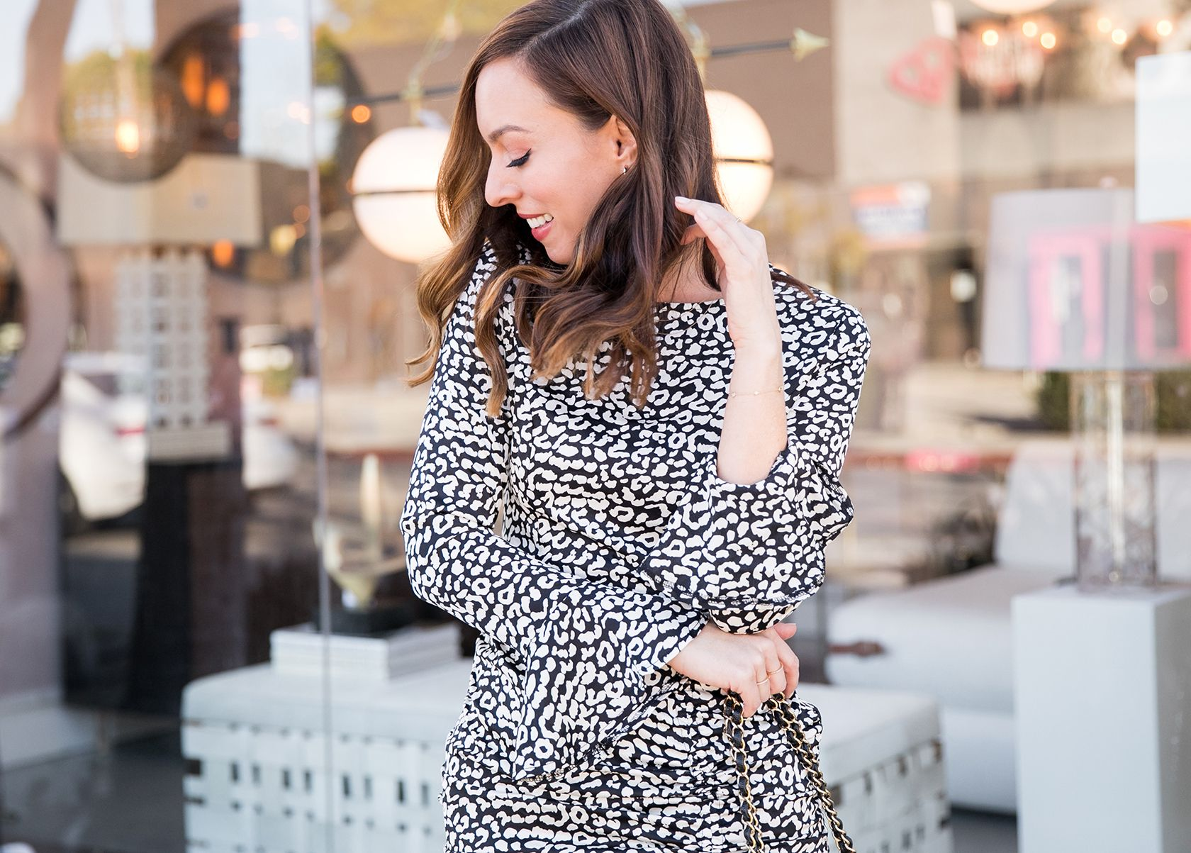 Sydne Style Shows Black And White Leopard Print Dresses For Spring Leopard Dresses Blackandwhite Sydnesummer Leopard Dress Leopard Print Dress Dresses [ 1203 x 1680 Pixel ]