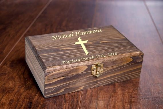 Confirmation Keepsake Box with Icons Gift New