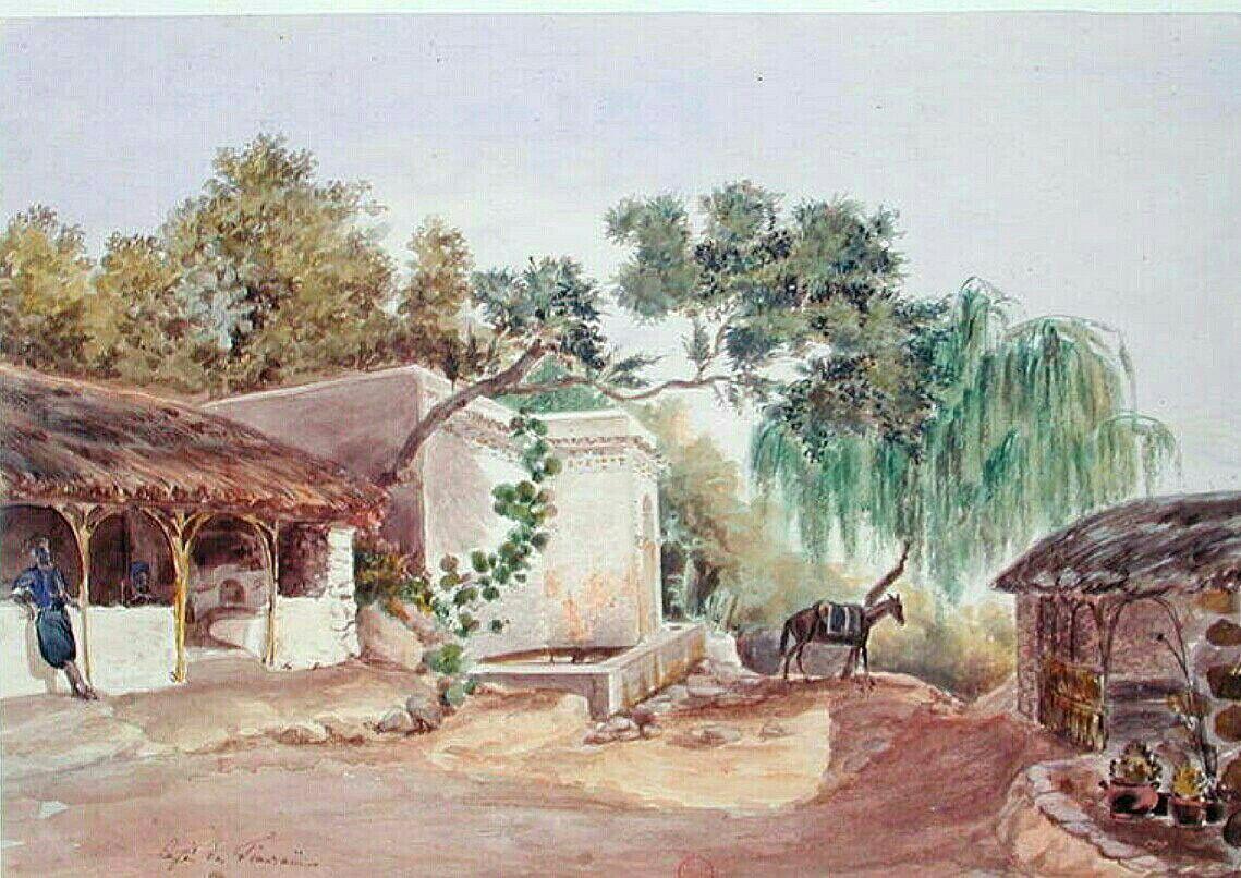Peinture d 39 alg rie peintre fran ais th odore leblanc for Peinture satinee algerie