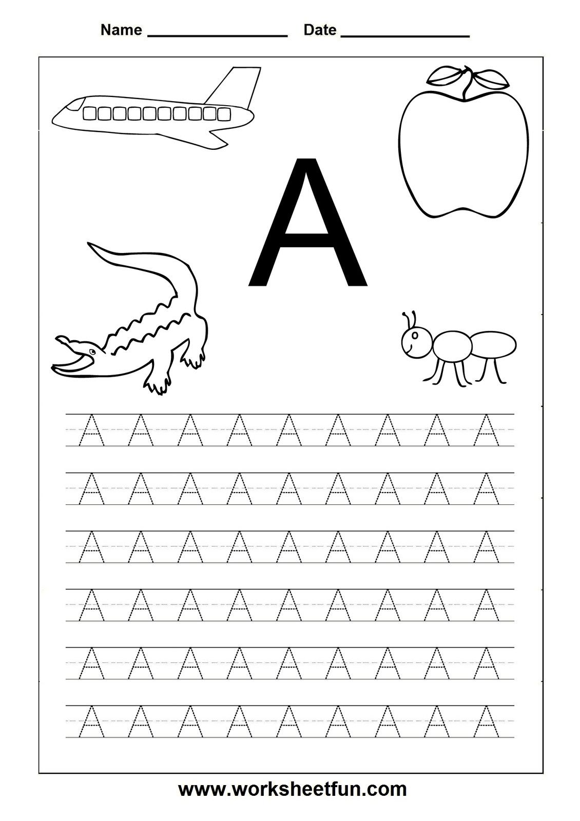 Free Printable Alphabet Tracers