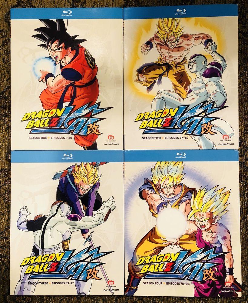 Dragon Ball Z Kai Seasons 1 2 3 4 Blu Ray 16 Disc Set With