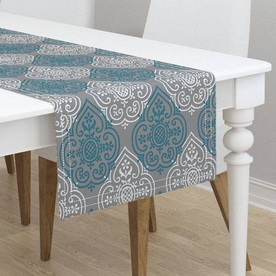 Moroccan Table Runner Lace Medallion By Peacoquettedesigns