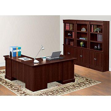 L Shaped Desk With Bookcase Set SET