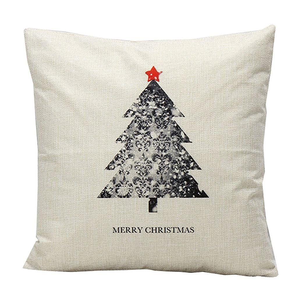 Amazon christmas snowman cushion cover case pillow custom