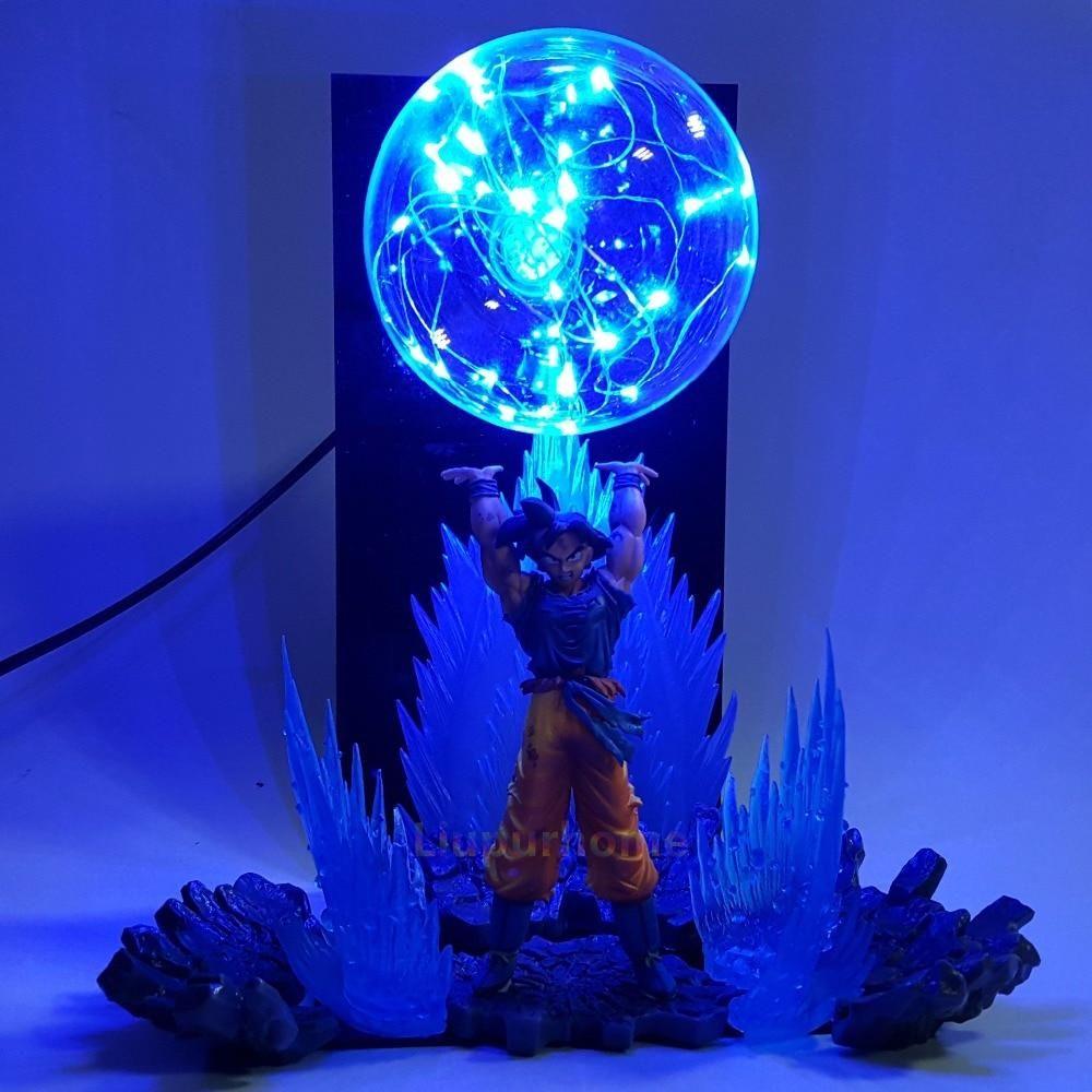 Son Goku Spirit Bomb Led Effect Night Lights Figuras De Goku Lampara Goku Personajes De Dragon Ball