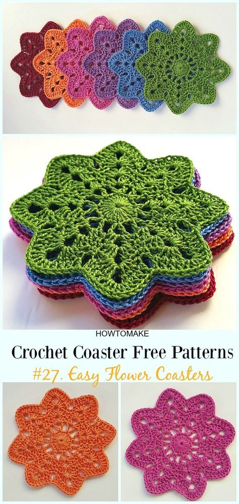 Easy Crochet Coaster Free Patterns Any Beginners Can Try is part of Free crochet doily patterns, Crochet coasters free pattern, Crochet flowers easy, Crochet coasters, Crochet patterns, Crochet flowers - Easy Crochet Coaster Free Patterns Any Beginners Can Try