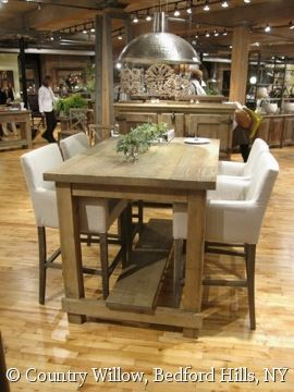 Bar Height Kitchen Table Sets Small Glass Top Country Willow Furniture Rectangular Barn