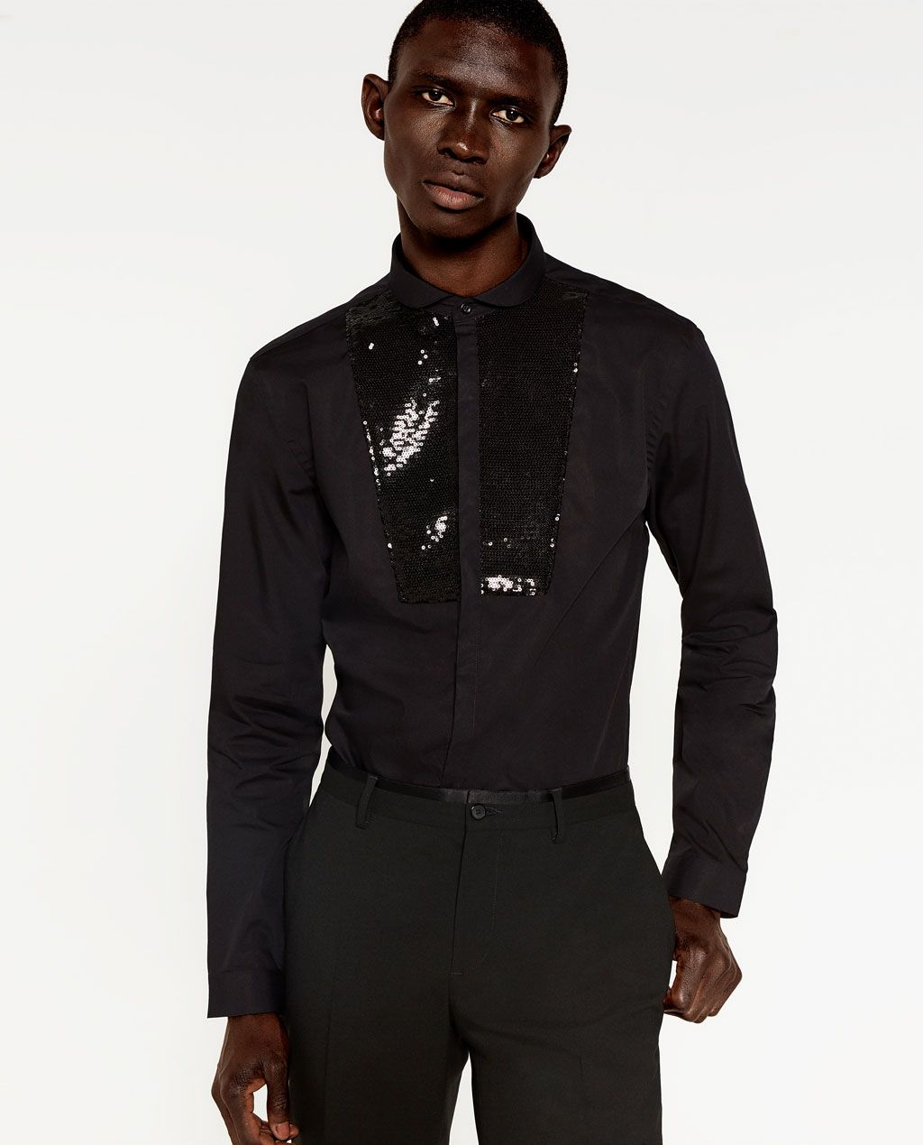 c5f68629 ZARA - MAN - SEQUIN SHIRT | Resort 17 | Sequin shirt, Zara man ...