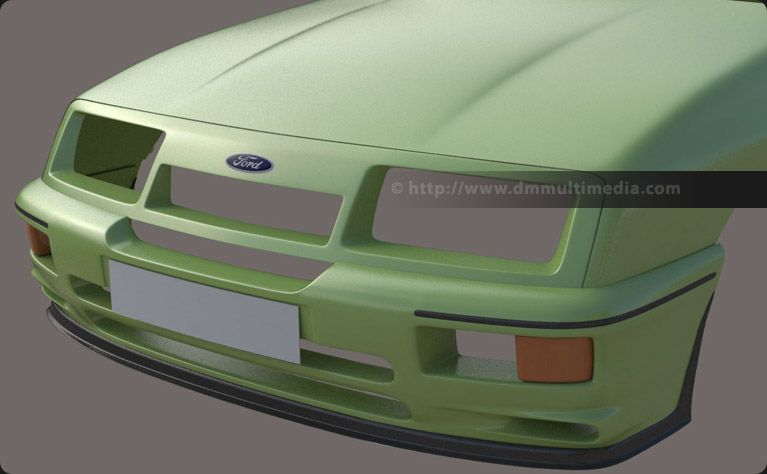 Ford Sierra Cosworth Rs500 Refining The Front Grill With