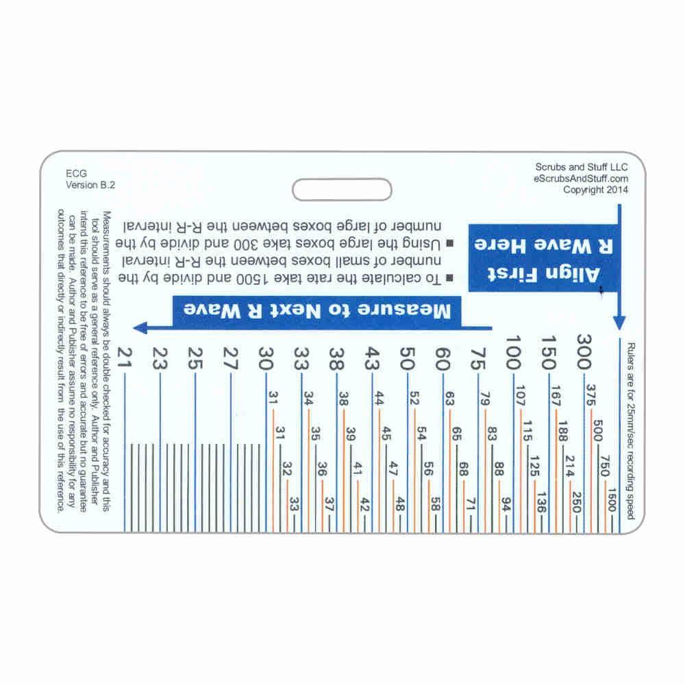 Ecg Ruler Diagram Horizontal Badge Card Helpful Medical