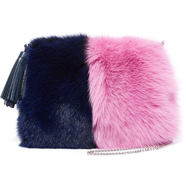 Loeffler Randall Fur Tassel Pouch ( 595) ❤ liked on Polyvore featuring bags c58af073822bb
