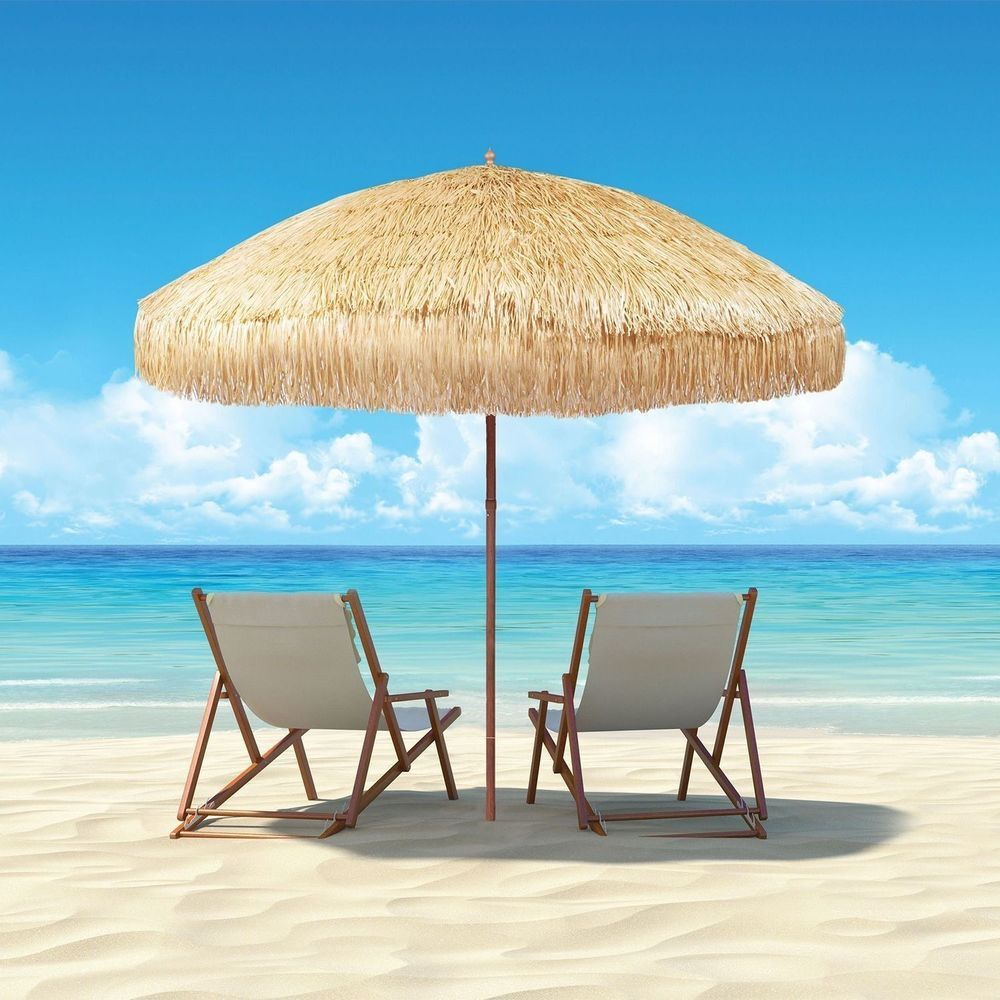 Beach Umbrellas Vented Canopy Patio Sitting Area Hawaii Style Free Shipping  New