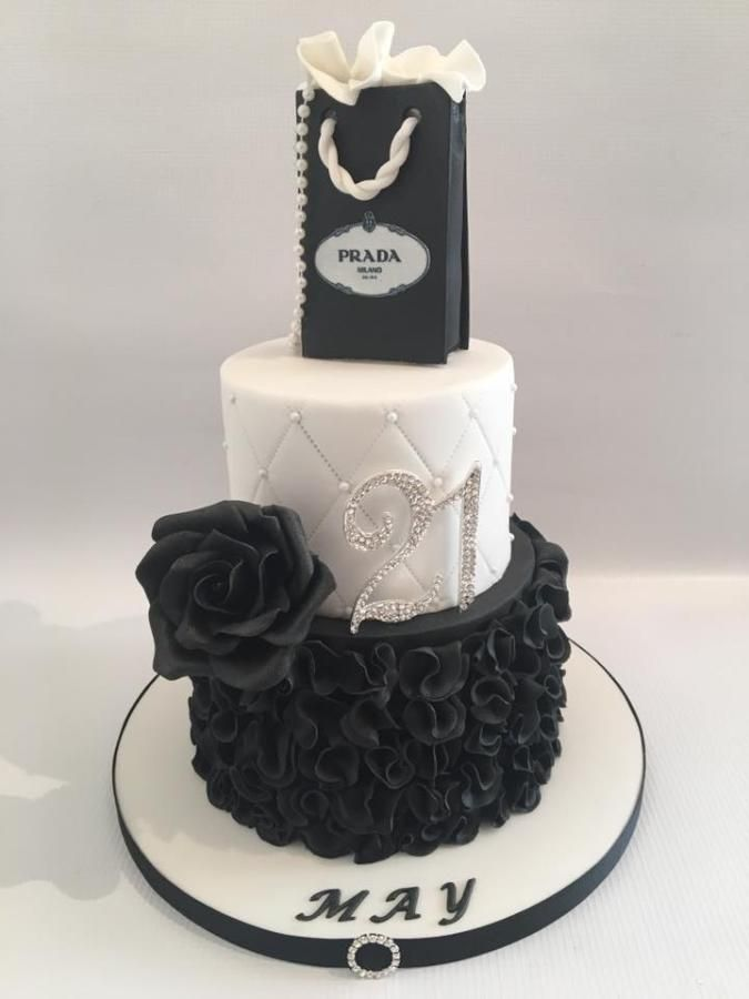 21st Birthday Cake By Amanda Sargant Ruffle Cakes Pinterest