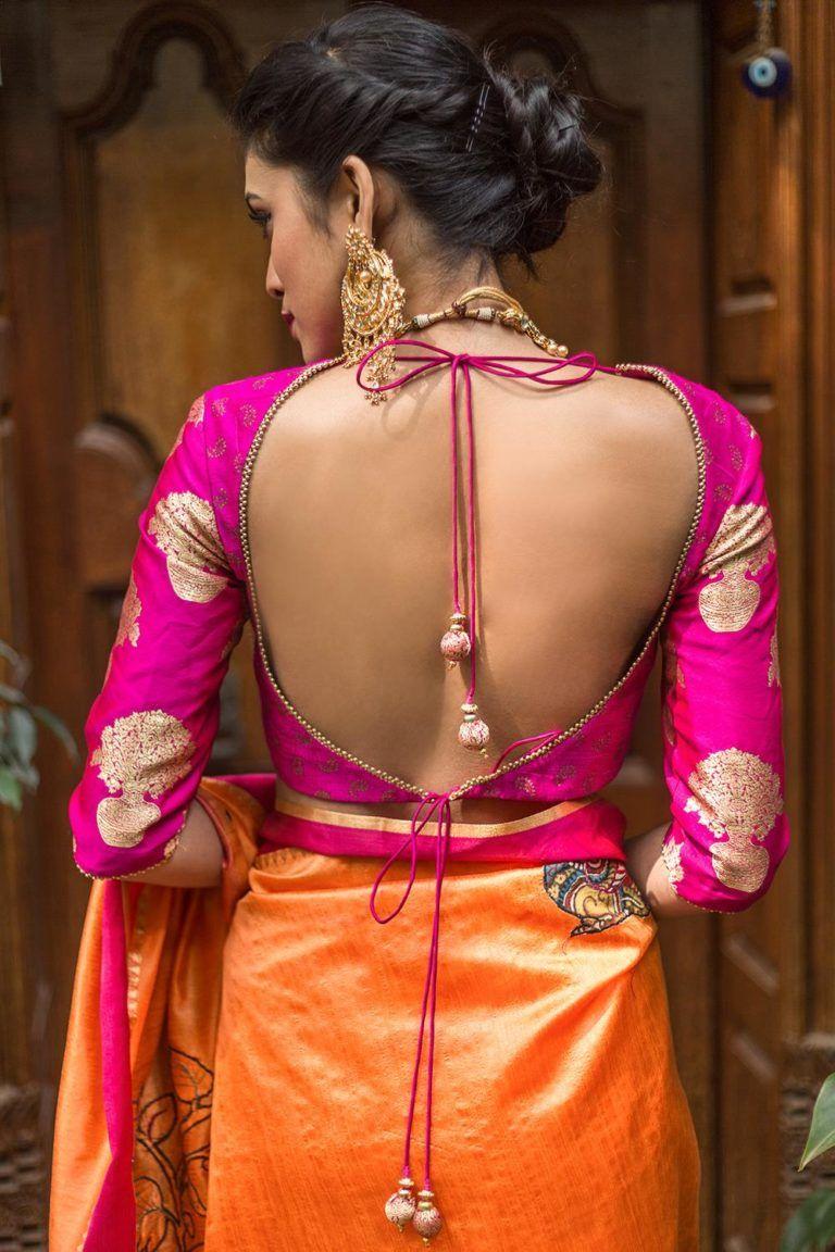 Pin by AlmeenaYadhav on Brides N Blouse | Blouse neck
