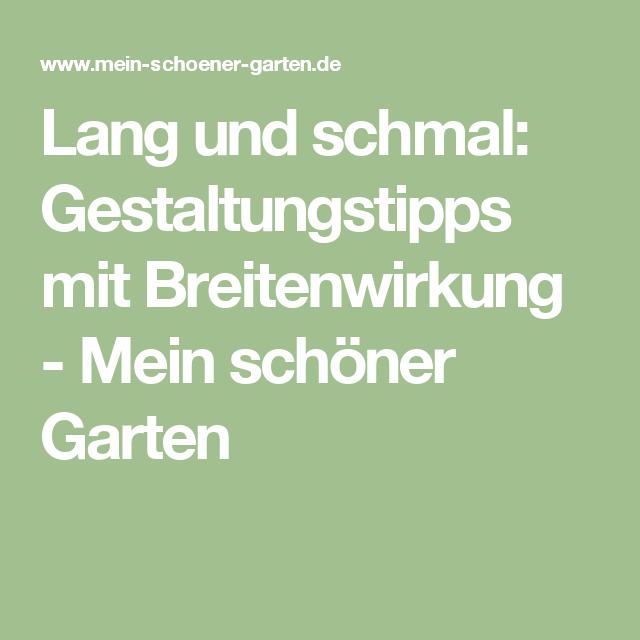 Gestaltungstipps terrasse im garten  Lang und schmal: Gestaltungstipps mit Breitenwirkung | Schmal ...