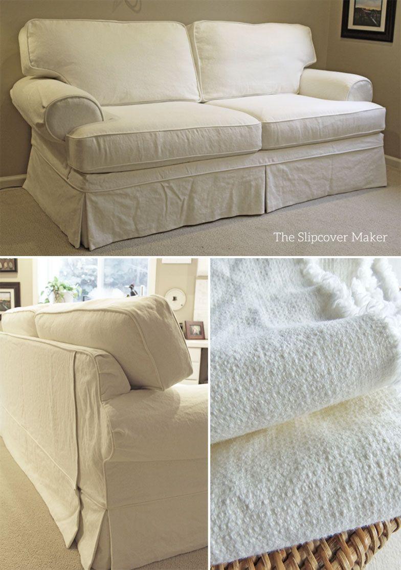Linen Cotton Textured Slipcover | Slipcovers | Pinterest ...