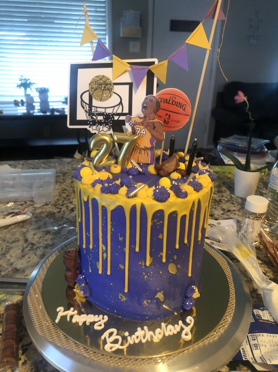 Lakers cake in 2020 Cake, Beautiful birthday cakes, Cute
