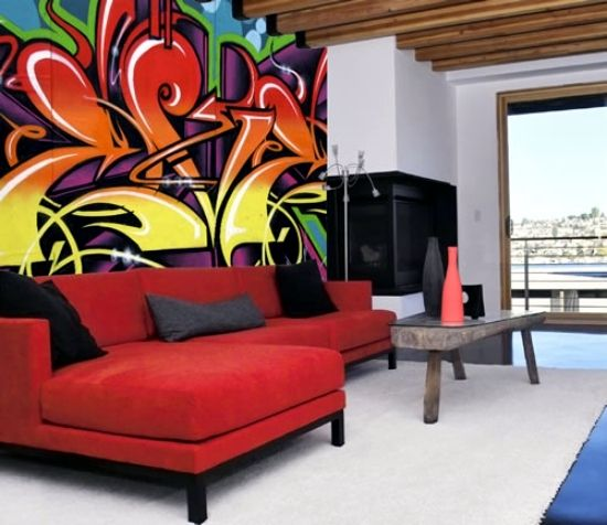 Use Graffiti As A Wall Decoration Invite Street Art At Home Home