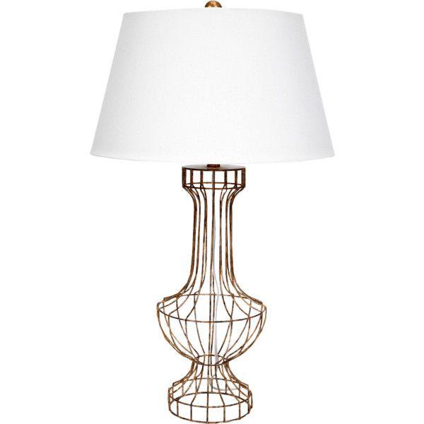 Old World Design Barrett Gold Open Wire Cage Unique Table Lamp Lamp Unique Table Lamps Gold Lamp