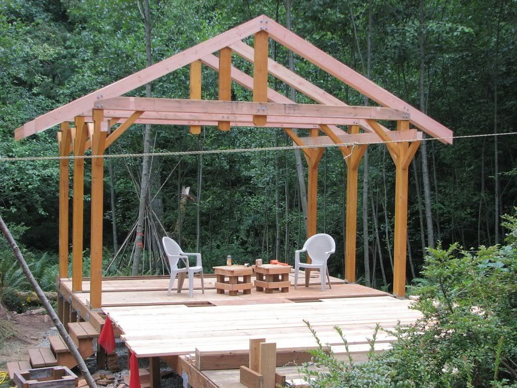 14 x 14 post beam w scribed log infill houses pinterest deck cover for winter baanklon Image collections
