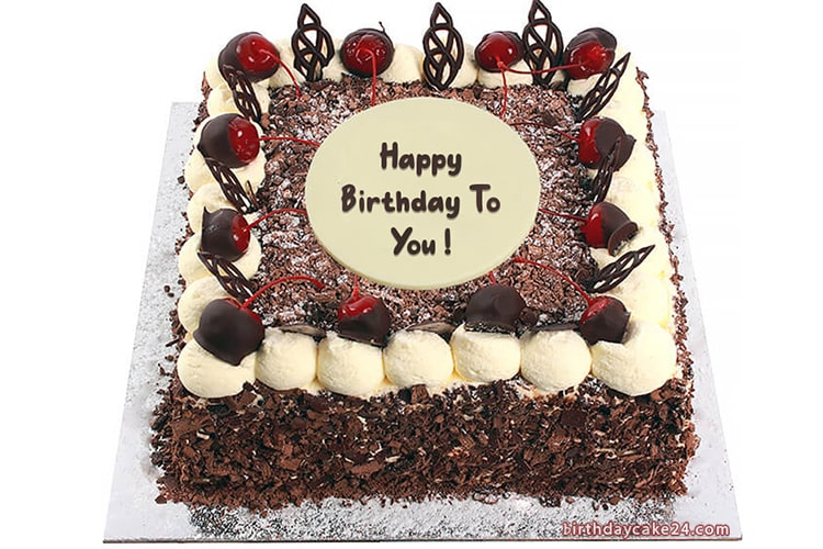 Black Forest Birthday Cake With Name Edit Black Forest Birthday