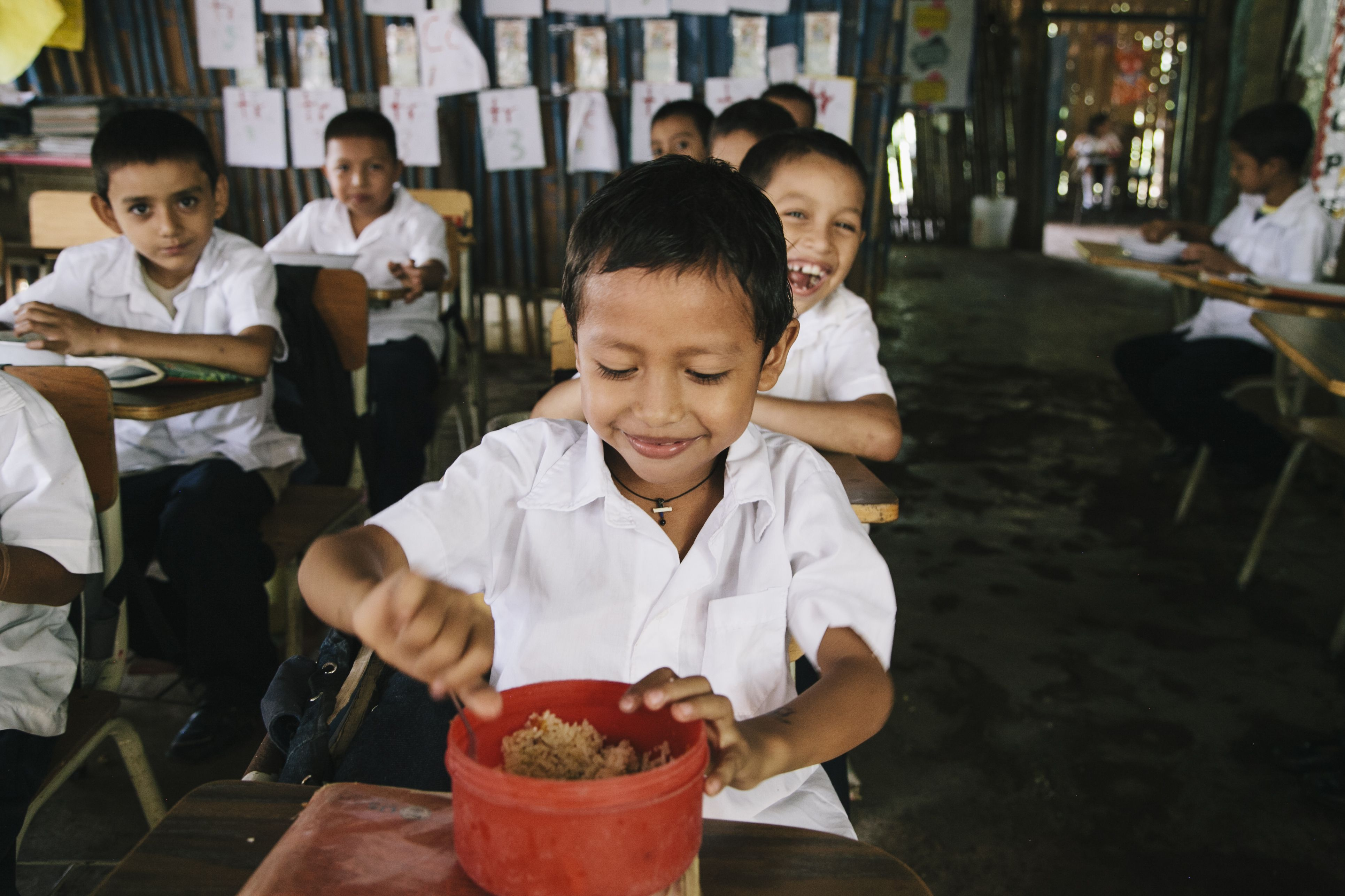 We feed children, respond to disasters, empower women, inspire communities and educate farmers because people matter. Not just on Human Rights Day, but every day.   These boys are in our children's feeding program in El Salvador, click the image to view more photos like this one.