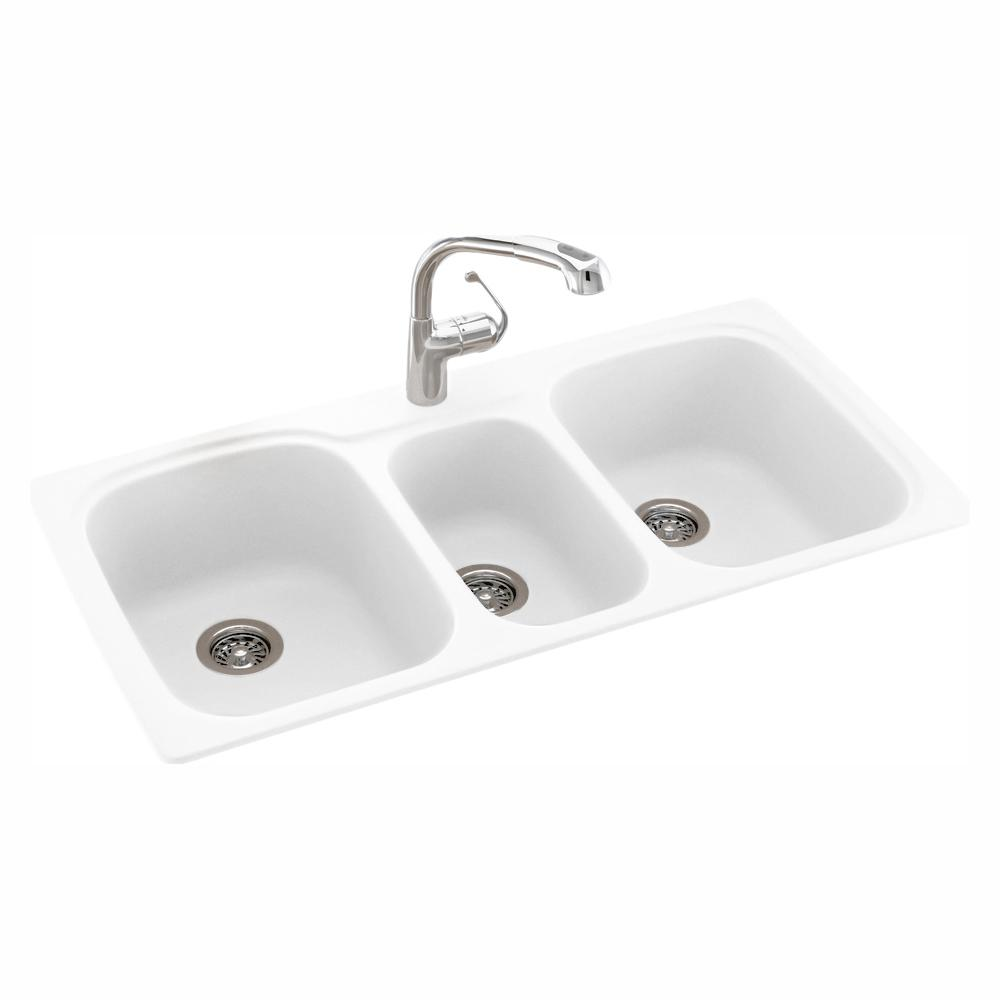 Swan Drop In Undermount Solid Surface 44 In 1 Hole 40 20 40