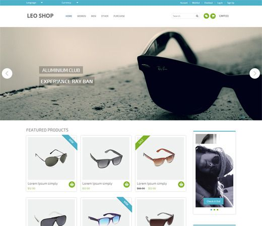 Leoshop Free #Responsive #HTML5 #CSS3 #Mobileweb Template ...