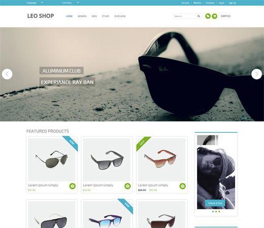 leoshop free responsive html5 css3 mobileweb template