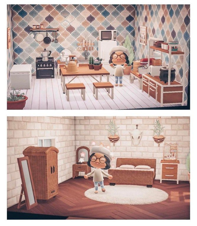I'm very proud of my bedroom and kitchen so I wanted to ... on Animal Crossing Bedroom Ideas New Horizons  id=73967