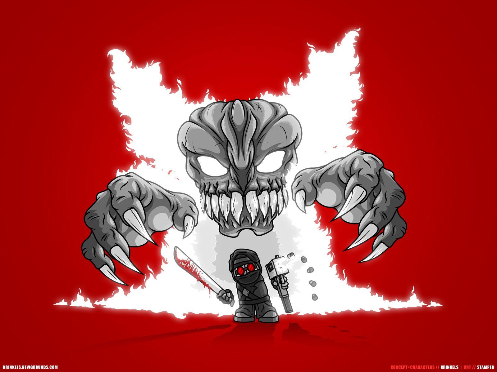 Tricky Looms Over Hank Madness Combat Combat Art Robot Concept Art Combat Fan