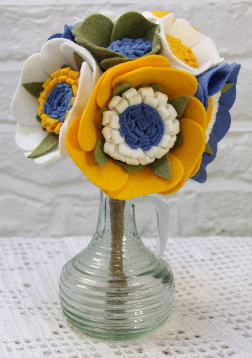 Felt flower bouquet scandinavian blue and yellow 3500 via etsy felt flower bouquet scandinavian blue and yellow 3500 via etsy izmirmasajfo