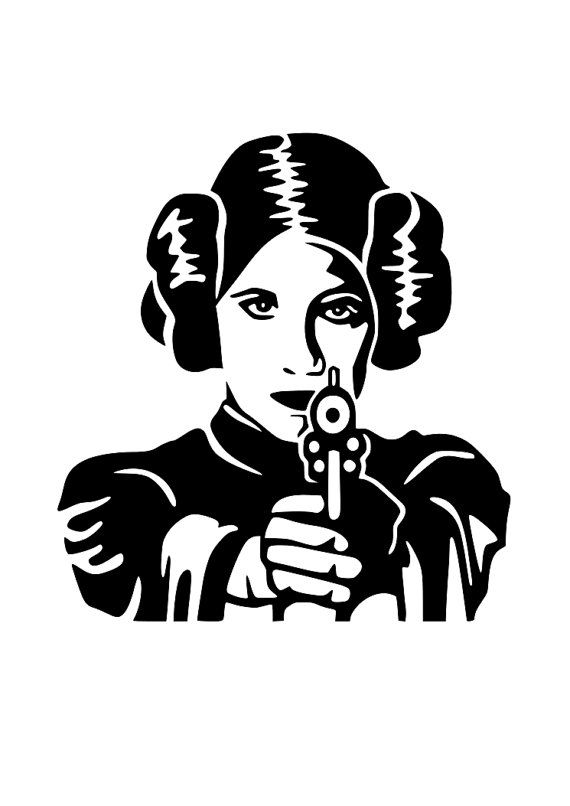 Star wars princess leia svg cutting file cricut silhouette disney pinterest pochoir - Pochoir star wars ...