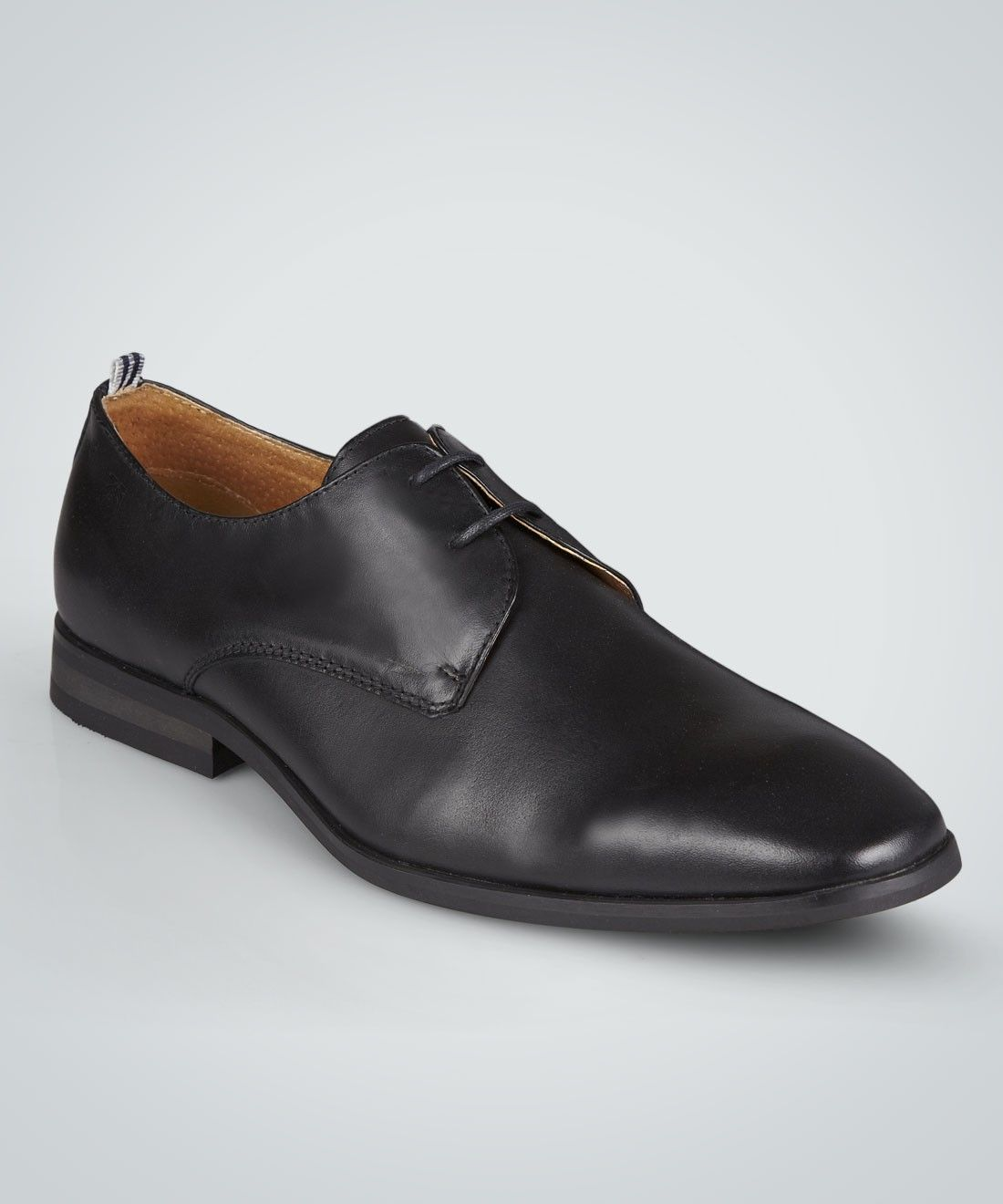 A sleek leather Derby shoe is a simple-looking classic must-have for any  man's foot locker. Ours features an EVA sole and chisel toe