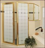 Shower door static cling cover
