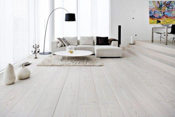 Legno Bianco Sbiancato : Parquet bianco eleganza e originalità per la casa al mare