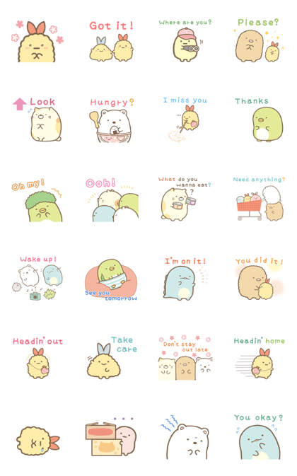 Sumikko Gurashi Family Stickers 2 Sticker For Line Whatsapp Android Iphone Ios Family Stickers Cartoon Stickers Cute Stickers