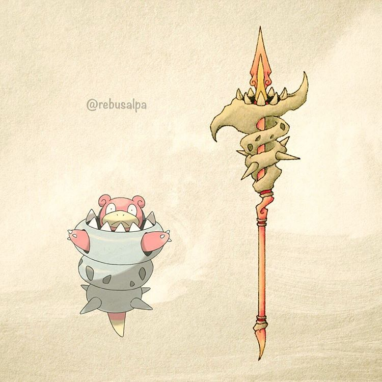 Pokeapon No. 080 - Mega Slowbro. #pokemon #megaslowbro #slowbro #spear #螺旋槍 #pokeapon