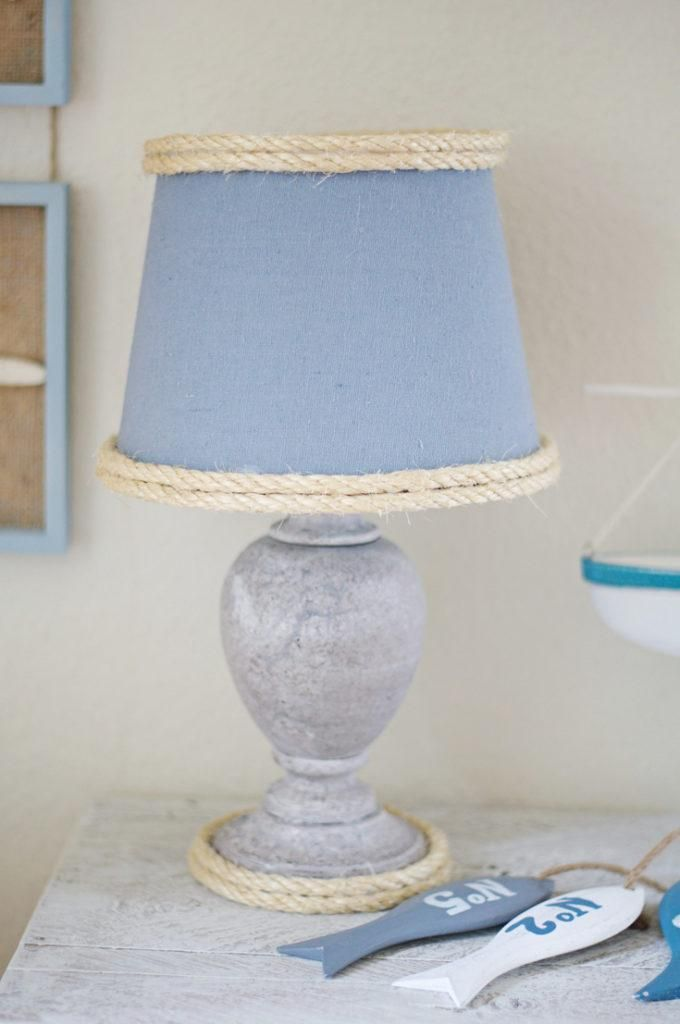 Give life to a boring lamp by giving it a beautiful makeover