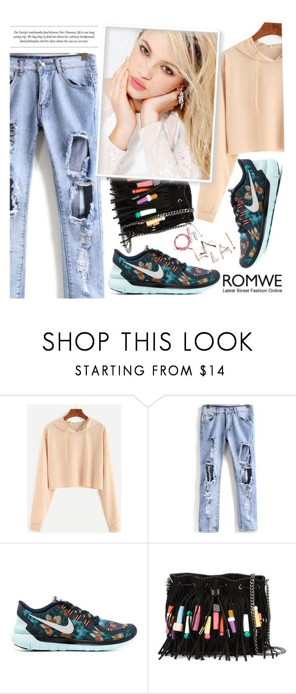 """Romwe Contest ♥"" by av-anul ❤ liked on Polyvore featuring NIKE, STELLA McCARTNEY, Silvana, romwe, topset and avanul"