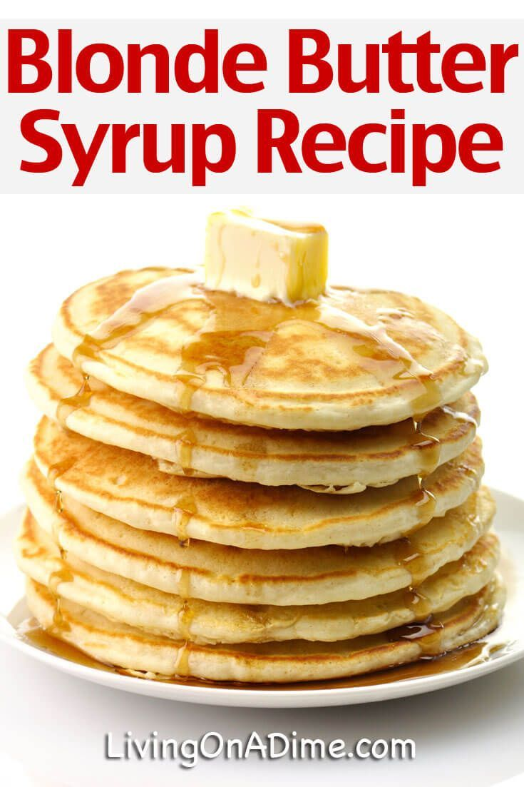 10 Simple Homemade Syrup Recipes - Easy Pancake Syrup   - DIY - Foods -