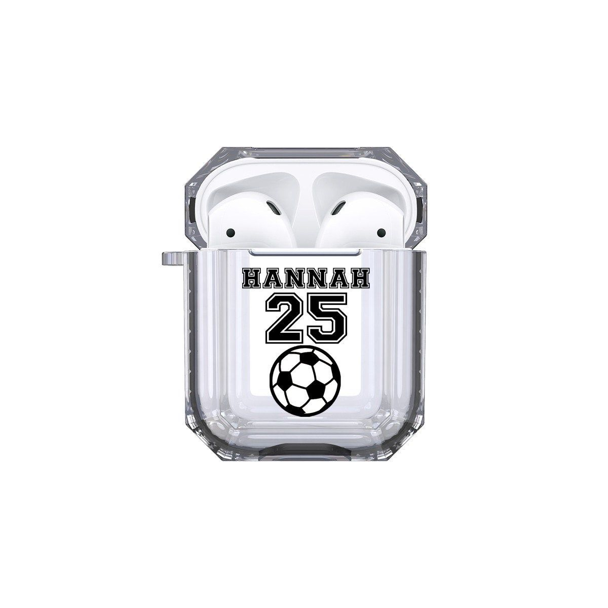Protective Customized Sports Airpod Case Soccer Name And Etsy Airpod Case Pink Phone Cases Case