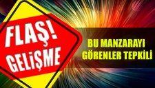BU MANZARAYI GÖRENLER TEPKİLİ |