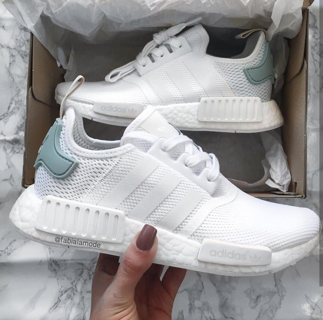 adidas Originals NMD in white-turquise/weiß-türkies // Foto: fabialamode (Instagram) #adidasclothes