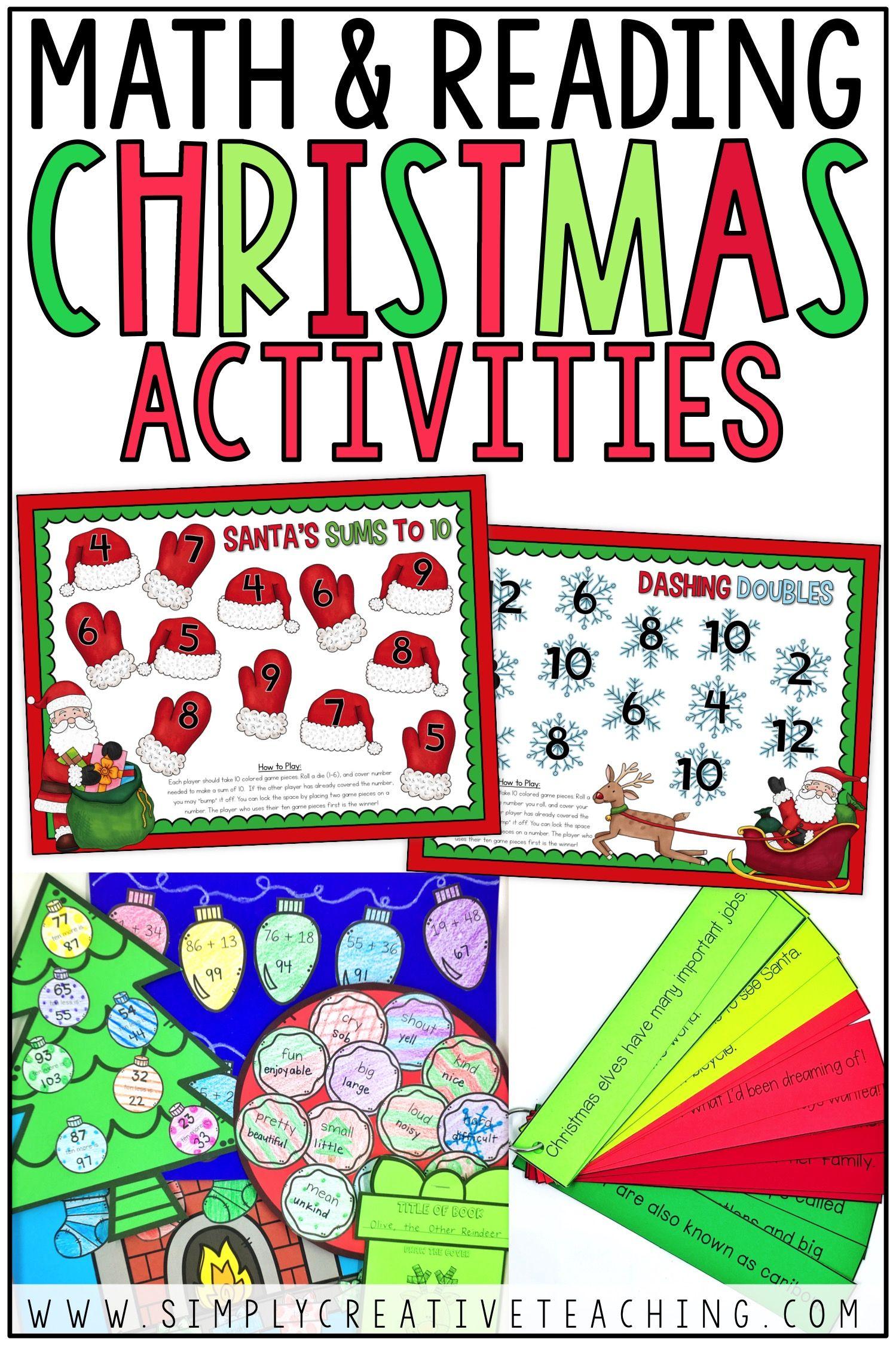 Christmas Math Amp Reading Activities