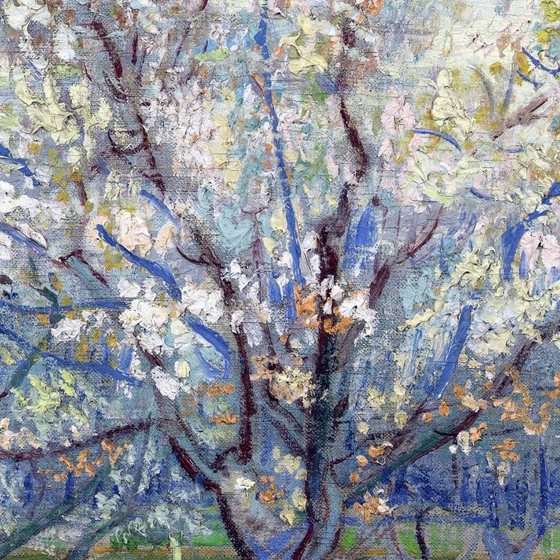The Pink Orchard (detail) byVincent Van Gogh