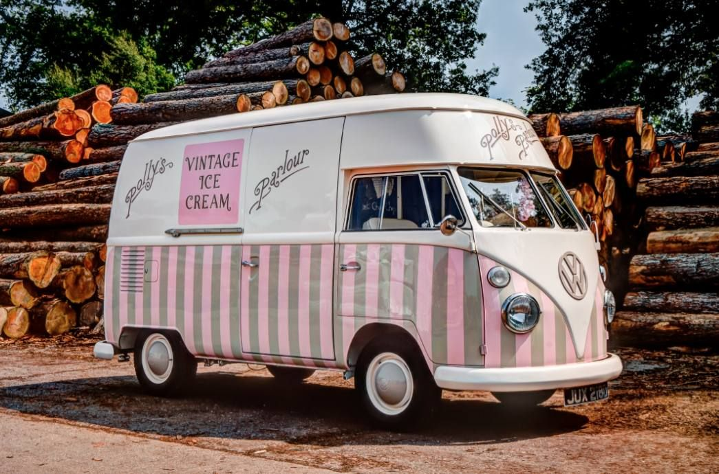 Charming Florence Is Available For Wedding Hire, Event Or Festival. Traditional Ice  Cream From An Award Winning VW Vintage Ice Cream Van