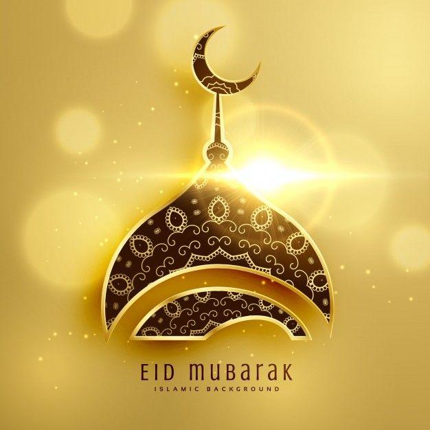 Download Golden Eid Mubarak Card For Free Eid Mubarak Greetings Eid Mubarak Background Eid Mubarak Card