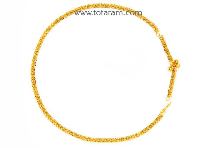 235 Gmt007 22k Gold Baby Molathadu Baby Waist Chain In 2020 Gold Jewelry Gift Kids Gold Jewelry Baby Jewelry