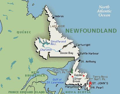 Newfoundland Map: Google map of Newfoundland, Canada | Norse